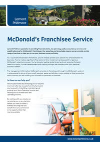 Specialist Services for McDonald's Franchisees