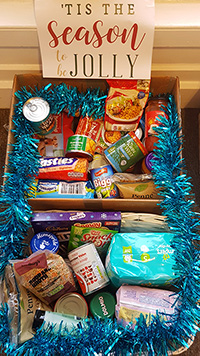 Charity Donations To Food Bank Sprout Up At Lamont Pridmore